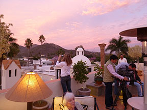 View from a new rooftop cafe at Hotel Colonial, where we'll be staging the first Alamos Book Fair on February 20.